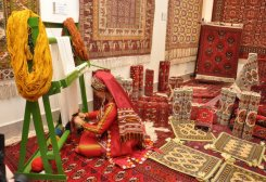 New Turkmen Carpet Enterprise in Baherden to Employ 150 Women