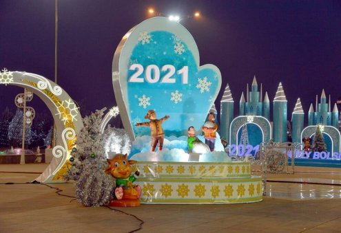 President Berdimuhamedov Congratulates Turkmen Citizens on New Year