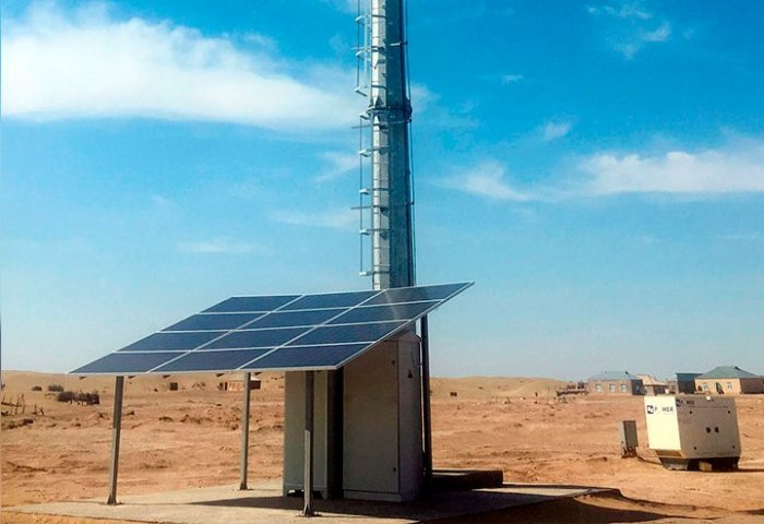 Solar-Powered Cellular Base Stations Installed in Turkmenistan's Remote Areas