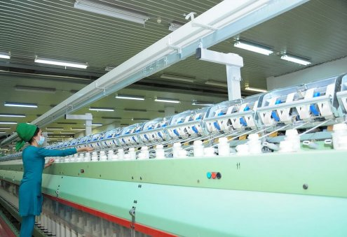 Turkmen Enterprise Produces Yarn Worth Nearly 70 Million Manats